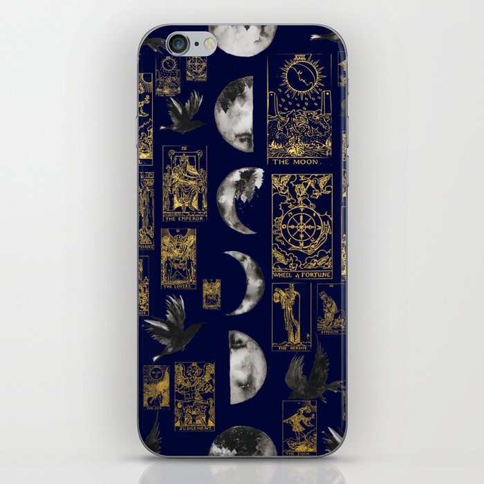 beautiful pagan themed tarot print iPhone Skin