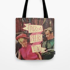 PIZZA BEERS T.V. Tote Bag