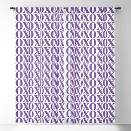 Purple XOXO Blackout Curtain