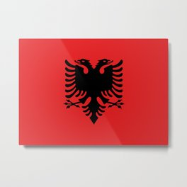 Flag of Albania Metal Print
