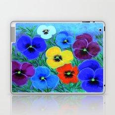Painted pansies Laptop & iPad Skin