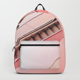Pink Minimalist Staircase Backpack