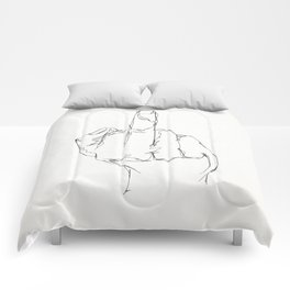 THINGS COLLECTION | MIDDLE FINGER Comforters