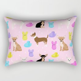 Chihuahua dog breed marshmallow peeps easter spring traditions cute dog breed gifts chihuahuas Rectangular Pillow