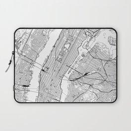 New York City White Map Laptop Sleeve