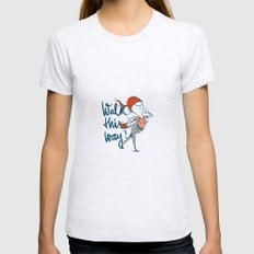 walk this way Womens Fitted Tee Ash Grey SMALL