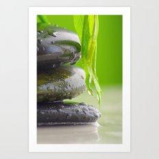 Wellness Stones Art Print