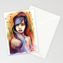 She is Lavender Stationery Cards