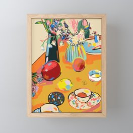 TEA AND FLOWERS AT HOME Framed Mini Art Print