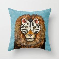 ZebraLion Throw Pillow
