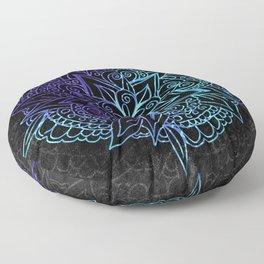 Mandala Purple & Cyan Floor Pillow