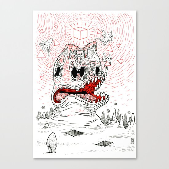 Triangles Are Tasty Canvas Print