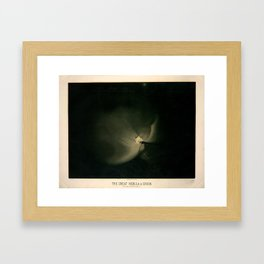 The great nebula in Orion by  Étienne Léopold Trouvelot (1875-1876) Framed Art Print