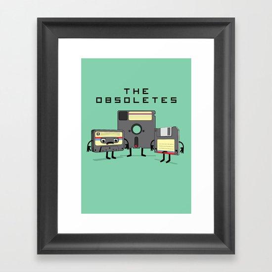 The Obsoletes (Retro Floppy Disk Cassette Tape)  Framed Art Print