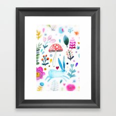mushroom kingdom Framed Art Print