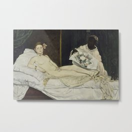 Edouard Manet - Olympia Metal Print