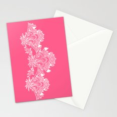 Vintage Lace Hankies Pink Stationery Cards