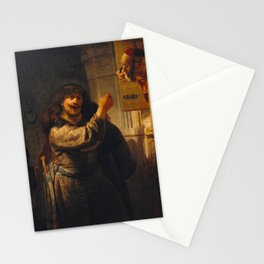 Rembrandt - Samson threatening his father-in-law (1635) Stationery Cards