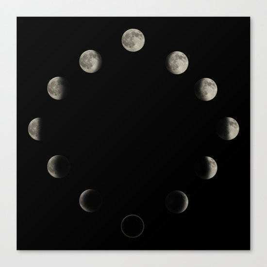 Lunar Cycle Canvas Print