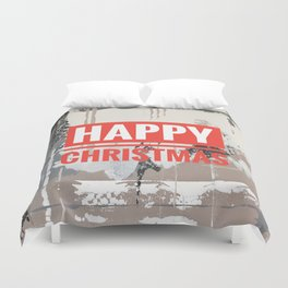 Snowfall - Happy Christmas Duvet Cover