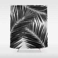 Palm Leaf Black & White III Shower Curtain