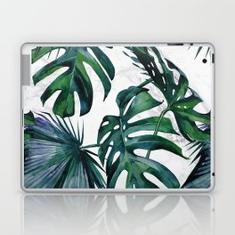Tropical Palm Leaves Classic on Marble Laptop & iPad Skin