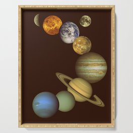The Solar System Serving Tray