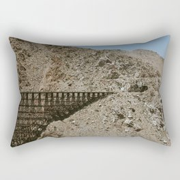 Wooden Trestle and Tunnel Rectangular Pillow