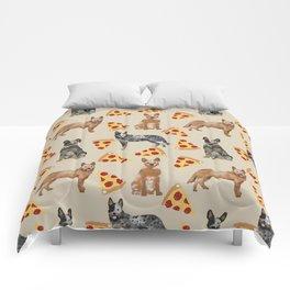 Australian Cattle Dog pizza slice pet friendly dog breed dog pattern art Comforters