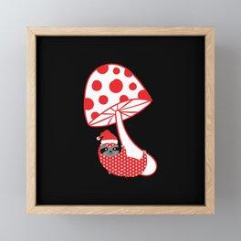 happy Christmas sloth Framed Mini Art Print