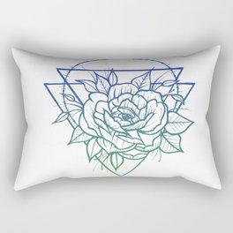 Crown Of Thorns - Blue To Green Rectangular Pillow