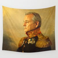 history Wall Tapestries featuring Bill Murray - replaceface by replaceface