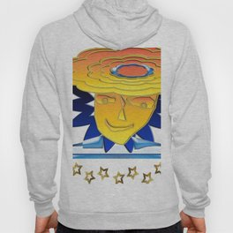 Doodle Sun-flower-man, abstract, fun design Hoody