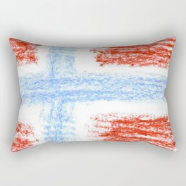 flag of norway 10 – Chalk version  snow,scandinavia,scandinavian,norwegian,oslo Rectangular Pillow