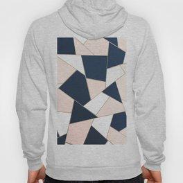 Navy Blue Blush White Gold Geometric Glam #1 #geo #decor #art #society6 Hoody