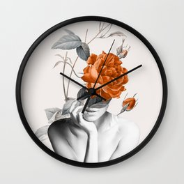 Rose 3 Wall Clock