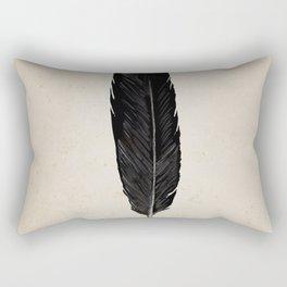 Raven Feather Rectangular Pillow