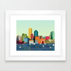 City Boston Framed Art Print