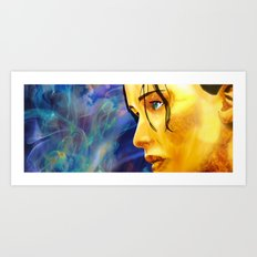 The Girl On Fire Art Print