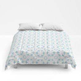 Icy Blue Snowflakes Comforters