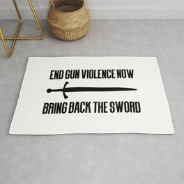 End gun violence now - Bring back the sword Rug