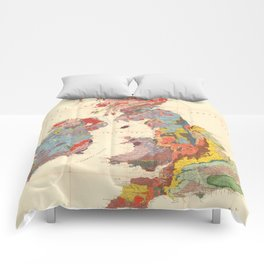 Vintage Geological Map of The British Isles (1912) Comforters