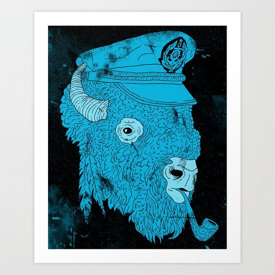 Buffalo Captain Art Print