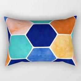 Painted Terra Cotta Rectangular Pillow