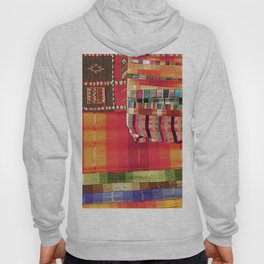 V27 Multi Colored Traditional Moroccan Lovely Textile Texture. Hoody