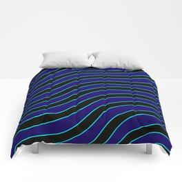 Navy,aqua, and black curvilinear Comforters