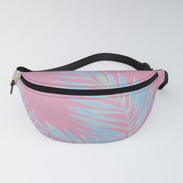 Palm Leaves Blue And Pink Fanny Pack