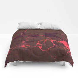 Grey Marble and Coral Comforters