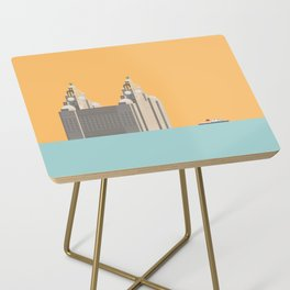 Liverpool Liver Building with Ferry on the Mersey Side Table