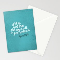 To live and to love. (Colored) Stationery Cards